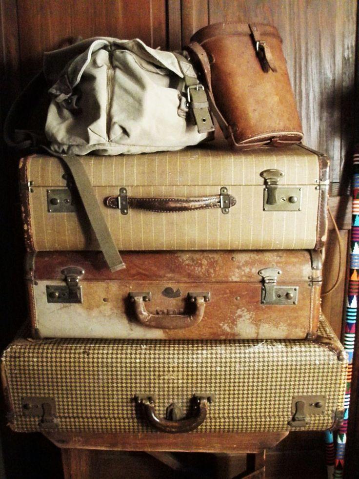 Vintage luggage... so worn, so marvelous...