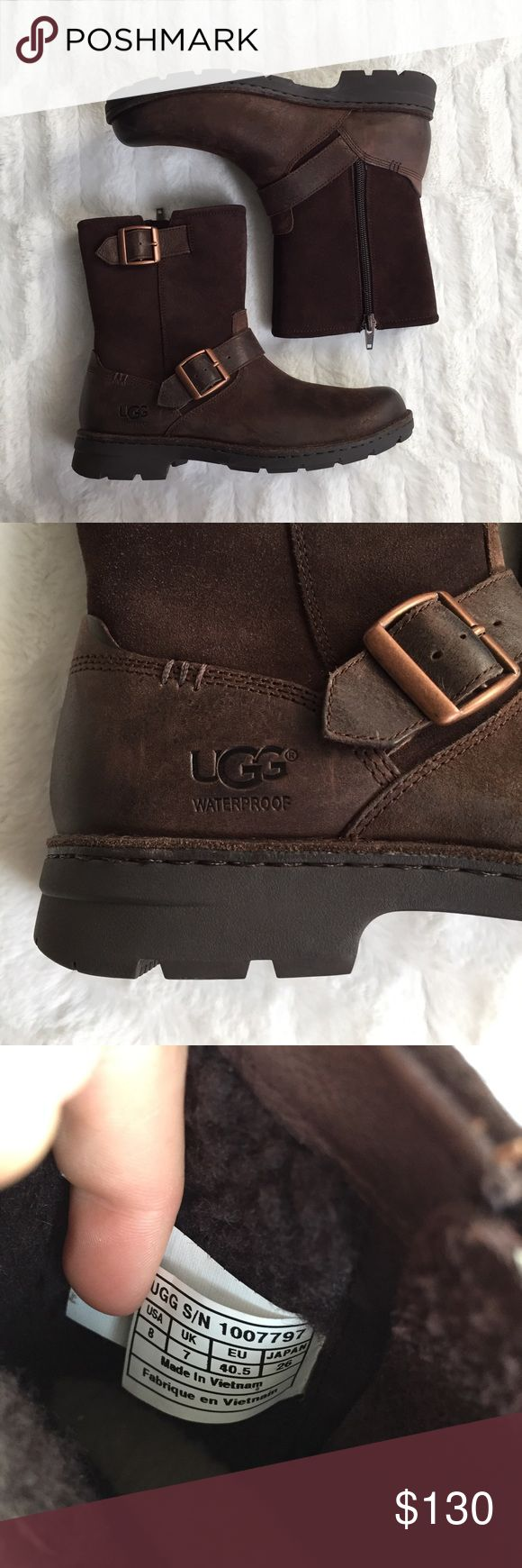 """UGG Messner Boots BNWT, Is a men's size 8, but fits size 9 women's. """"The Messner protects from the elements and wards off chills with a weather rating of up to -20 degrees Celsius. This seam sealed boot features 200g Thinsulate™ lining for added warmth, shaft lined with 10mm Curly UGGpure™, and a medial zipper for easy foot entry. The 7mm Curly UGGpure sockliner naturally wicks away moisture. Molded White Spider Rubber outsole."""" No trades. Does not come with box. UGG Shoes Winter & Rain…"""