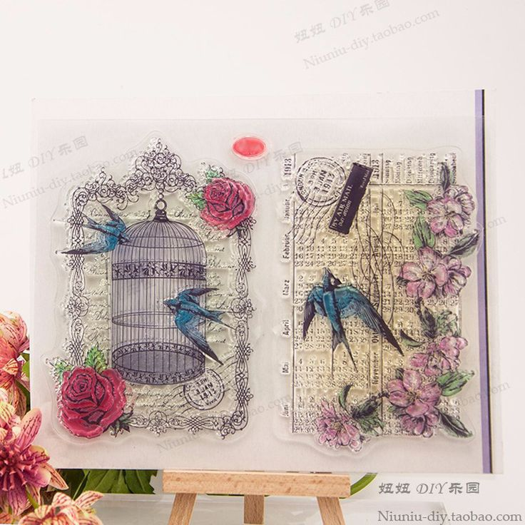 Bird cage Transparent Clear Silicone Stamp/Seal for DIY scrapbooking/photo album Decorative clear stamp sheets