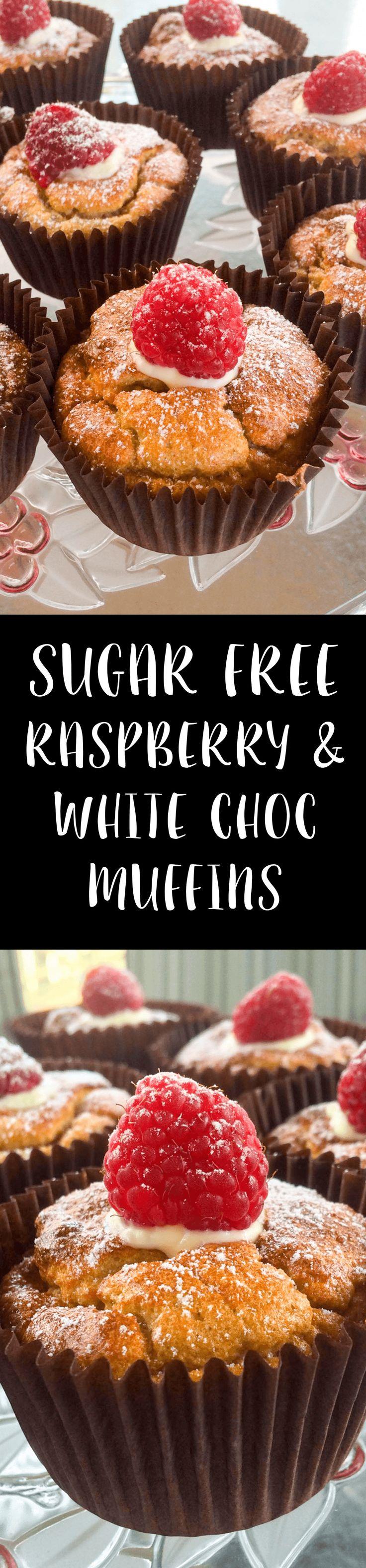 Sugar Free Raspberry and White Chocolate Muffins | Slimming World