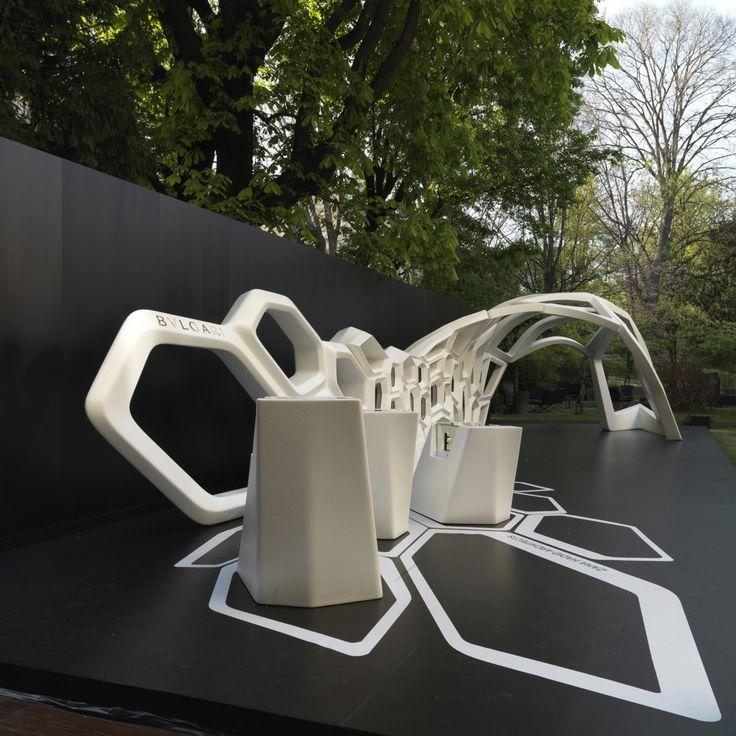 Bulgari x Zaha Hadid Serpenti installation launch party - Vogue Living