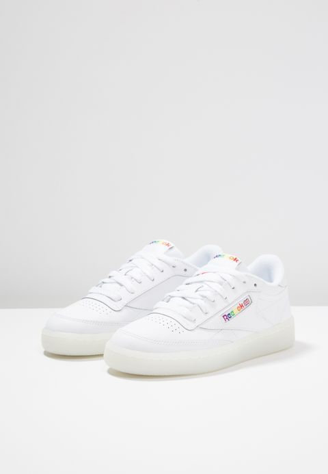 Reebok Classic CLUB C 85 - Trainers - white rainbow - Zalando.co.uk ... e37b0bb42894