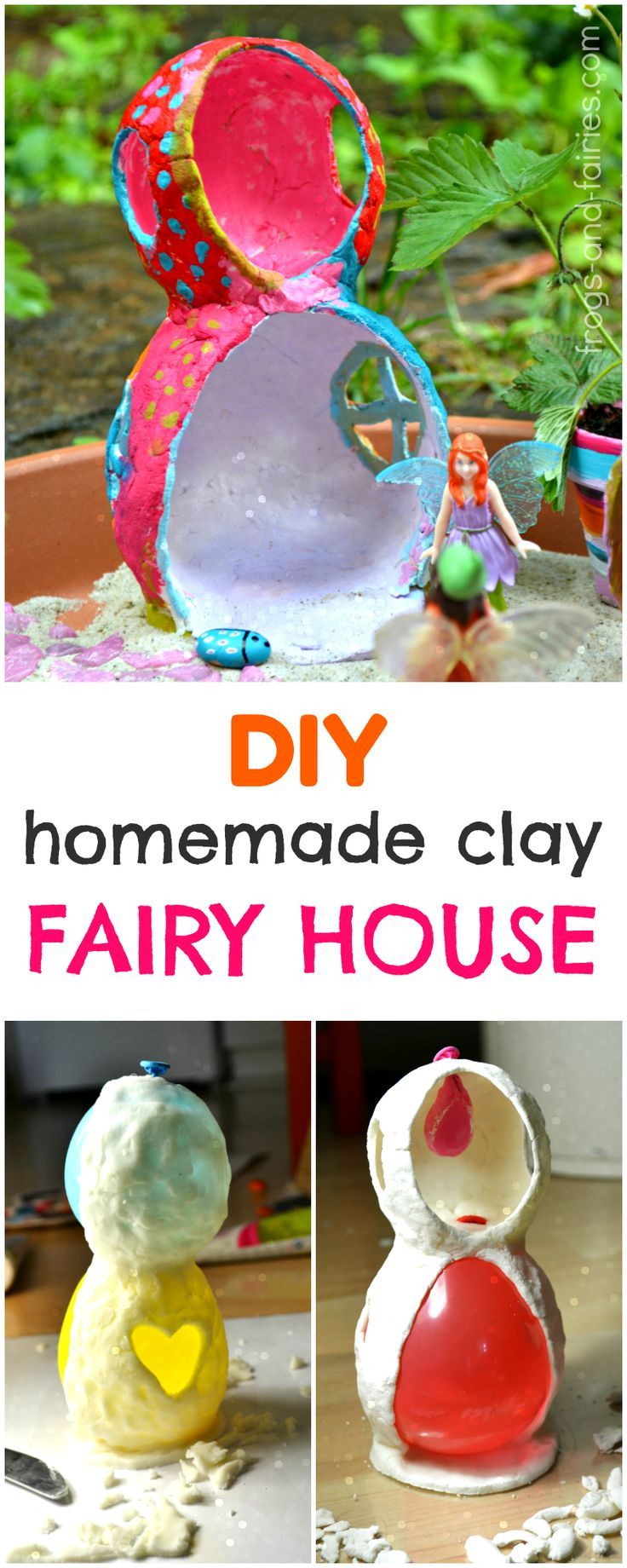 Make this adorable two story fairy house!