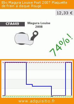 Ebc Magura Louise Post 2007 Plaquette de frein à disque Rouge (Sport). Réduction de 74%! Prix actuel 12,33 €, l'ancien prix était de 47,99 €. http://www.adquisitio.fr/ebc/magura-louise-post-2007-2