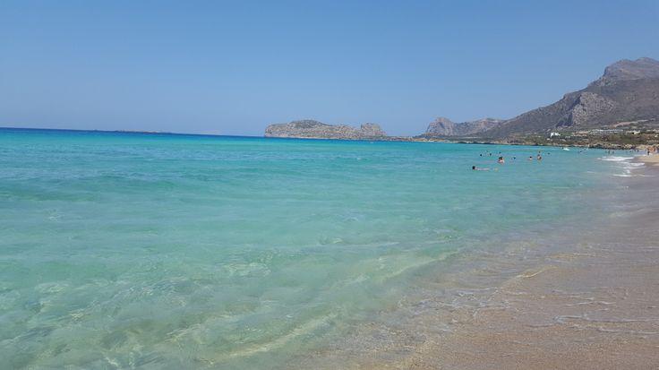 Falassarna, Crete the beach with clear blue wather #trivo