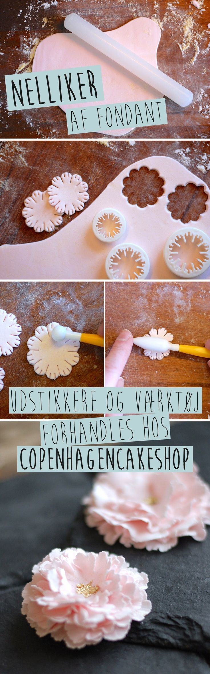 Copenhagencakes Fondant Flowers tutorial                                                                                                                                                                                 More
