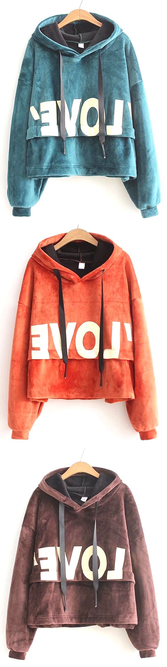Up to 68% OFF! New Lady'S Two Sided Velvet Mosaic Of The Letter Hoodie. #Zaful #hoodies Zaful, zaful sweater, zaful outfits, fashion, style, tops, outfits, blouses, sweatshirts, hoodies, cardigan, sweater, cute sweatshirt, floral hoodie, cropped hoodies, pearl sweatshirt, fall, winter, winter outfits, winter fashion, fall fashion, fall outfits, Christmas, ugly, ugly Christmas, Thanksgiving, gift, Christmas hoodies, Black Friday, Cyber Monday @zaful Extra 10% OFF Code:ZF2017