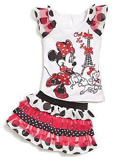Disney® 2-Piece Minnie Dot Scooter Set Toddler Girls