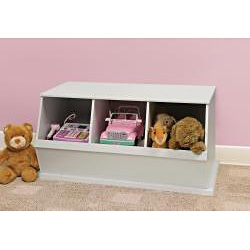 @Overstock - Materials: MDF  Finish: White  Wide mouth bin openings make it easy to load and unload http://www.overstock.com/Baby/Three-Bin-Stackable-Storage-Cubby-in-White/6297302/product.html?CID=214117 $73.02