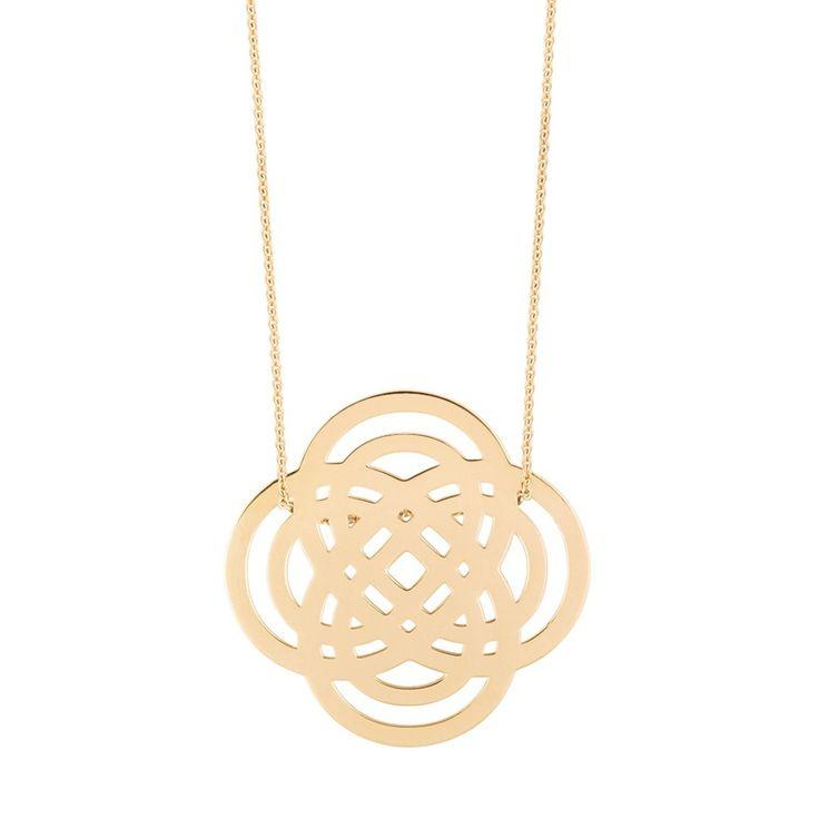 Ginette NY Baby Diamond Circle 18-karat rose gold necklace a4hoitJ5Y