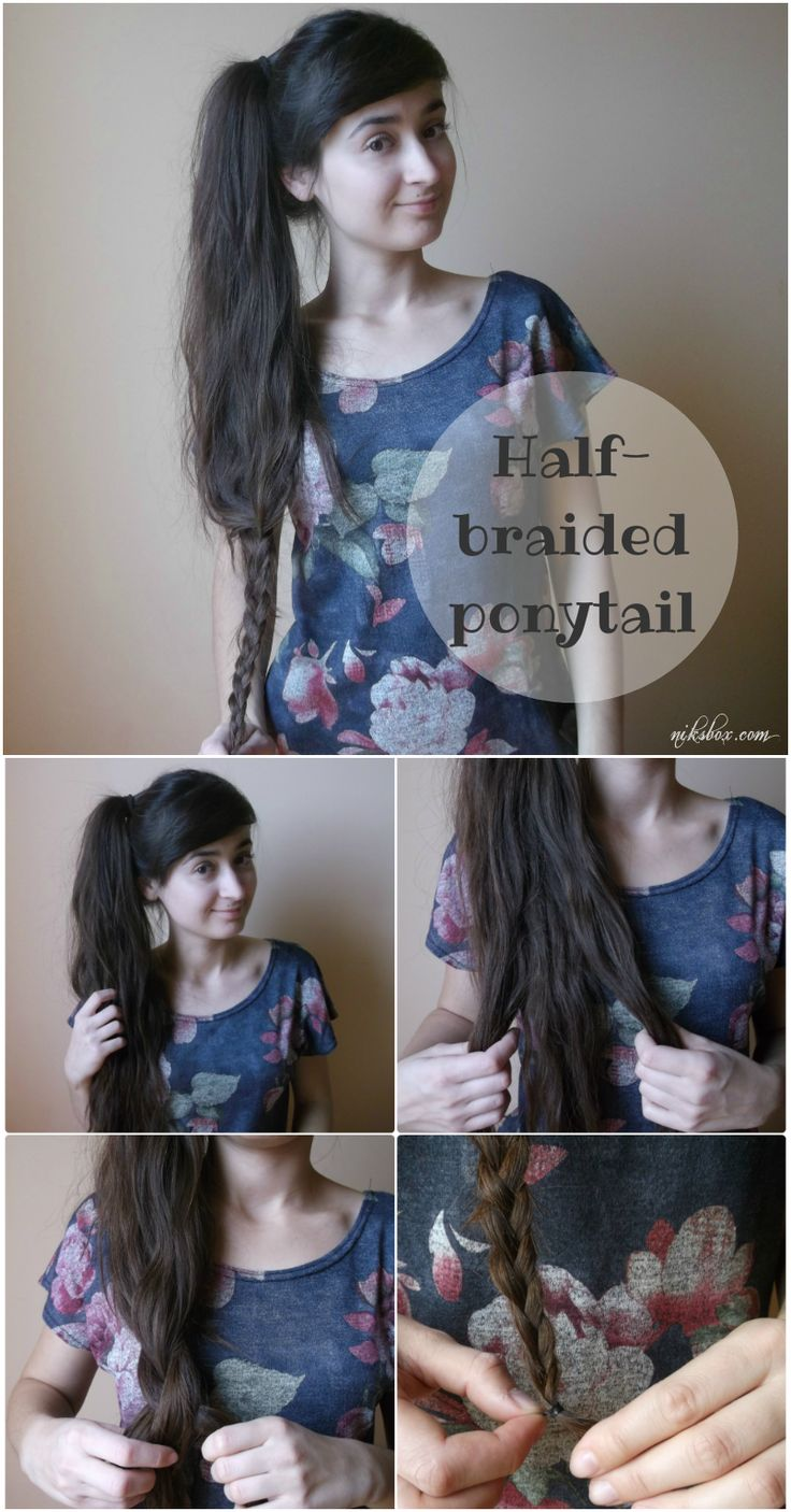 How to half-barided ponytail