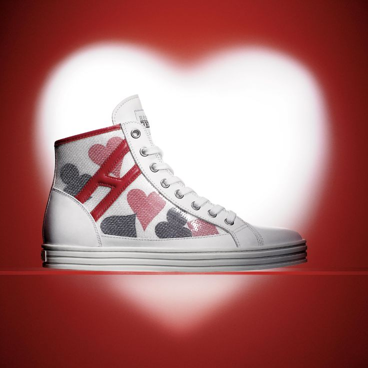 #HOGANREBEL special edition #Sneaker to celebrate Valentine's Day. #Shoe #love #heart #red #white #pink #ValentinesDay in #flagship #stores and #online