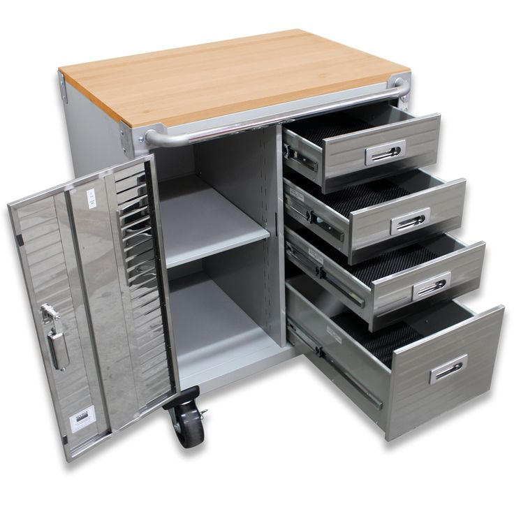 Seville Classics Ultrahd Rolling Storage Cabinet With Drawers