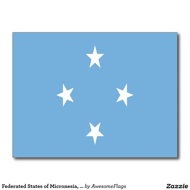 Federated States of Micronesia, flag Postcard