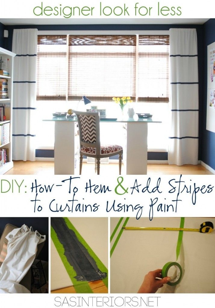 diy tutorial on how to hem a window curtain panel and howto add