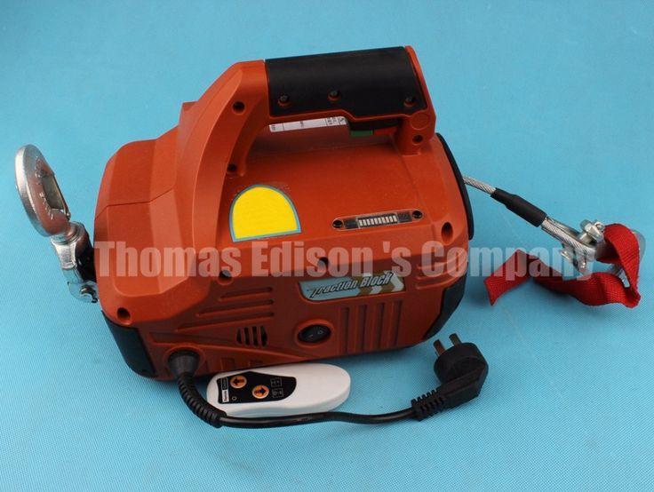 220 V 450 KG X 4.6 M Draagbare Elektrische Lier met draadloze afstandsbediening winch tractie blok Elektrische takel ankerlier
