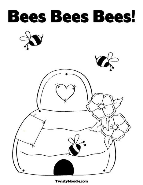 BEEbeehive Coloring Page