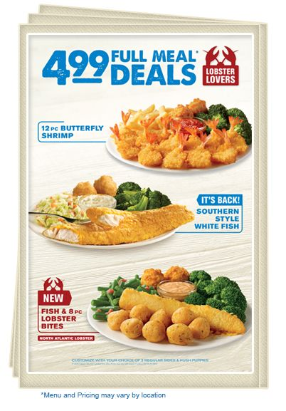Captain D's - Your Seafood Restaurant | Menu | Promotion