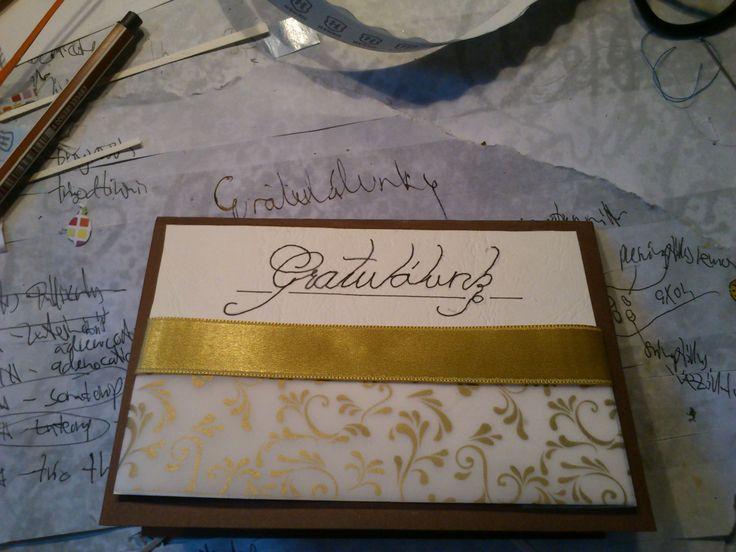Congratulation card home made card