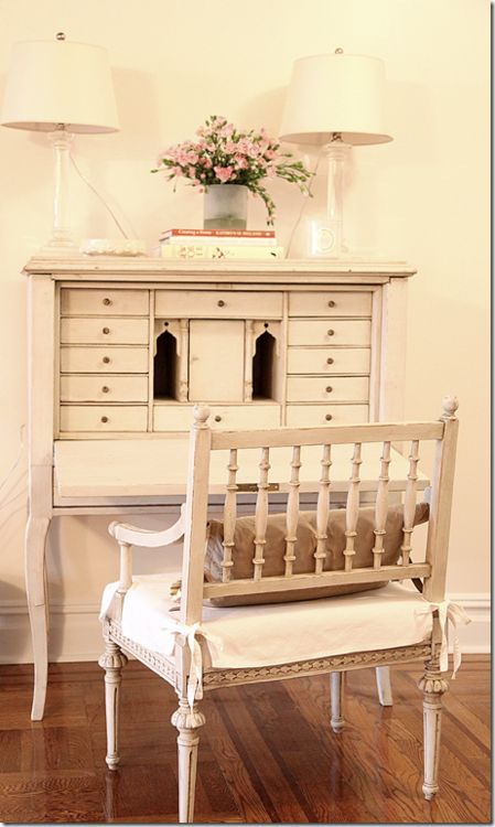 outstanding shabby chic office | 1161 best Desks images on Pinterest | Painted furniture ...