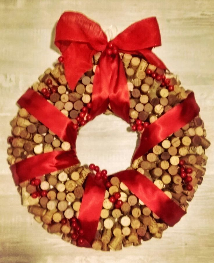 Xmas Corks Wreath