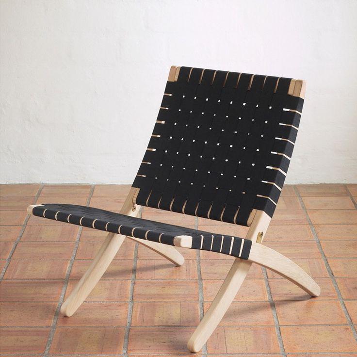 MG501 - Sort lak og sort flet - Lænestole - Stole - Møbler