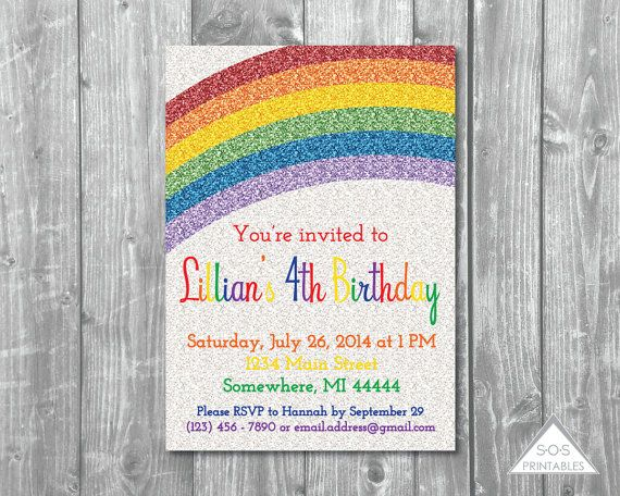 Hey, I found this really awesome Etsy listing at https://www.etsy.com/nz/listing/224236746/glitter-rainbow-party-invitation-sparkle