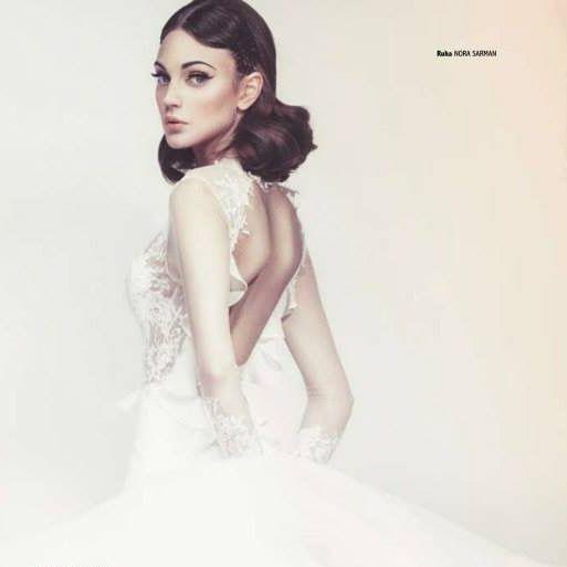 The Alina gown / Nora Sarman Bridal / photo Glamour Hungary
