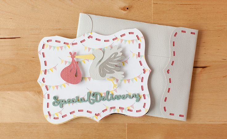 Special Delivery baby announcement card made with the