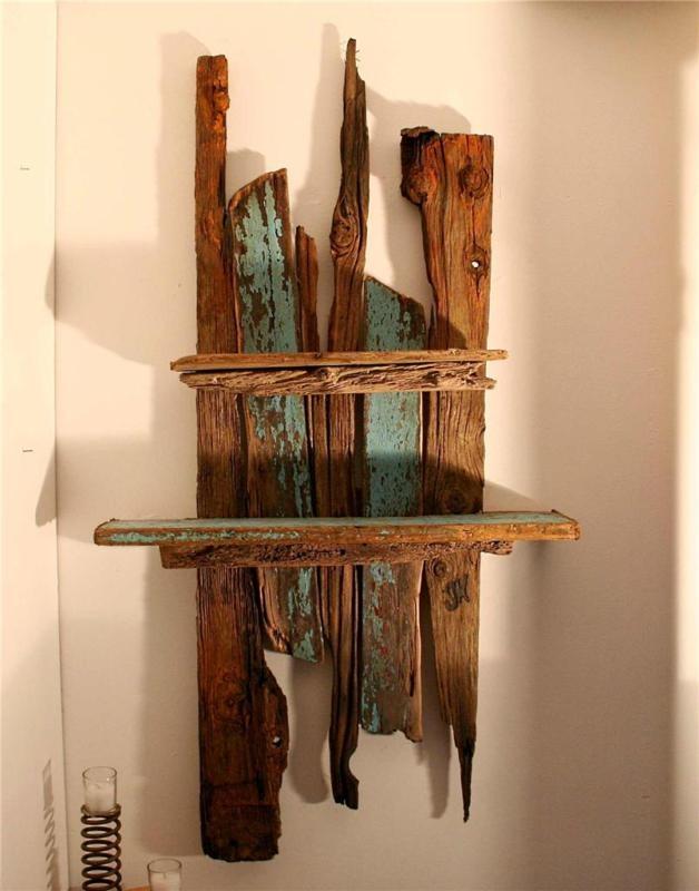 Best 25 driftwood shelf ideas on pinterest custom for Driftwood wall shelves