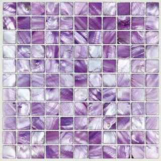 Purple mother of pearl tile, for dream purple kitchen