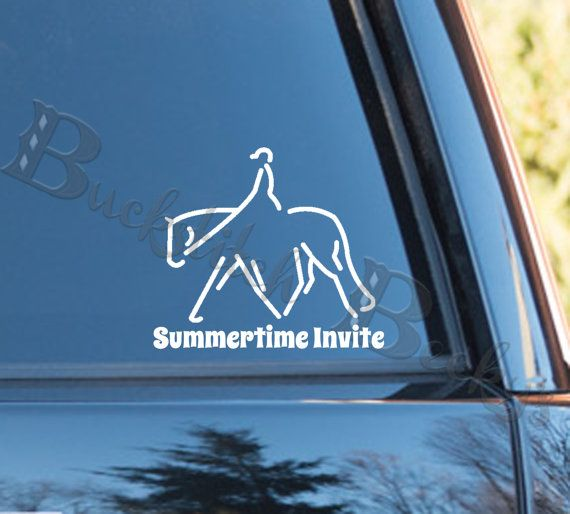 Personalized Hunter Under Saddle Horse Decal
