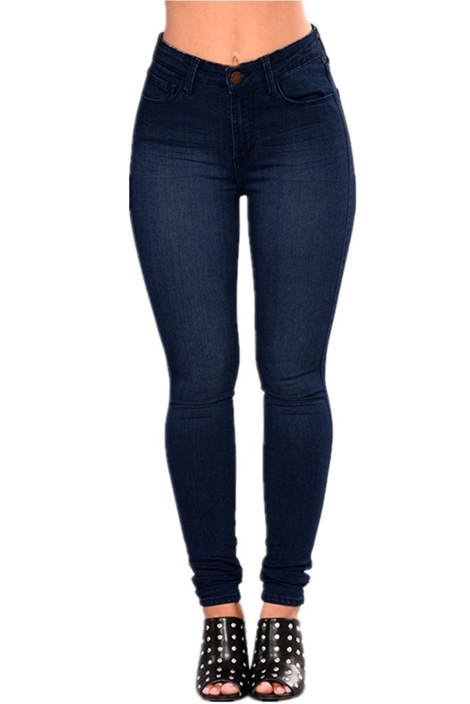 5caaaf5c LOVER BRAND FASHION High Waisted-Rise Ladies Women Multi-Color Denim ...