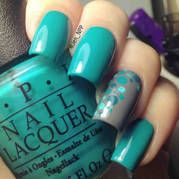 Best 25+ Teal Nail Designs Ideas On Pinterest