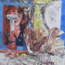 La donna dietro il vaso