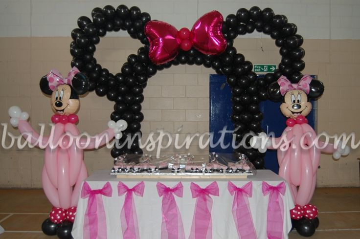Minnie mouse birthday ideas mickey mouse party supplies for Balloon decoration equipment