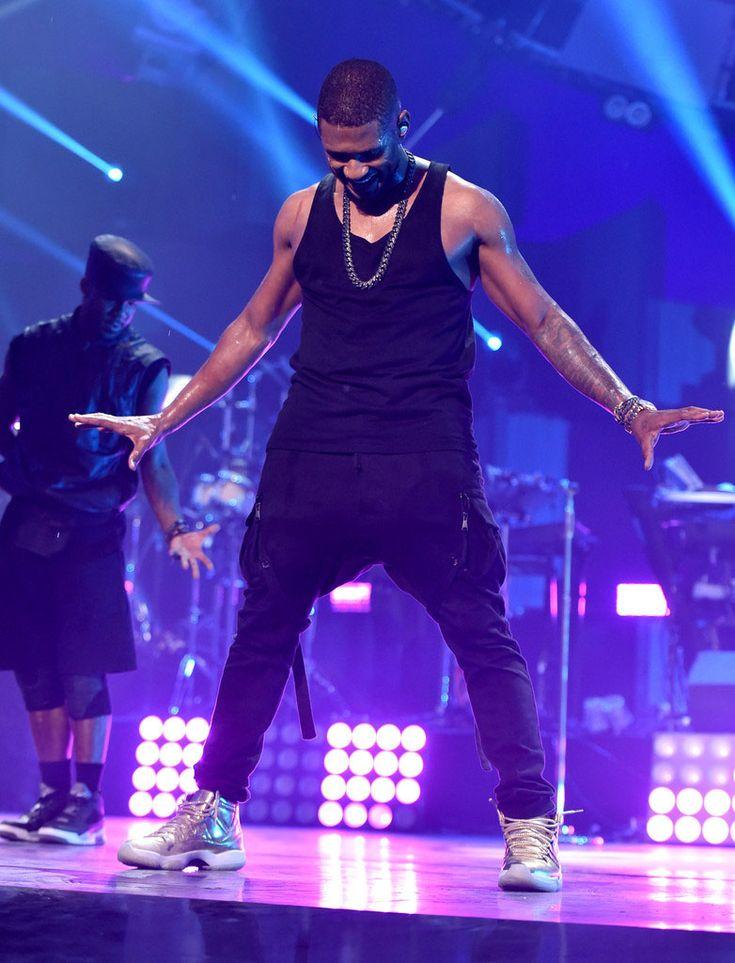 ... this music video Usher broke out his gold Air Jordan 11 exclusives in  Las Vegas. bd5742da4c3d