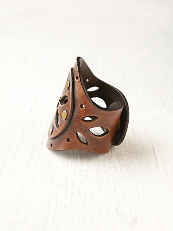 leather rings... maybe they wouldn't get all sweaty underneath like metal ones.  I dunno.