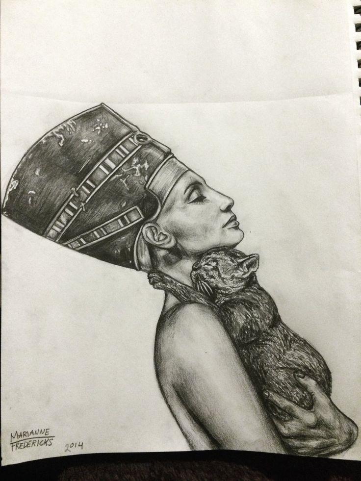 Nefertiti by mariannefredericks.deviantart.com on @DeviantArt