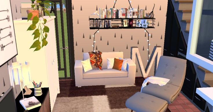 studio appartament.  the sims 4. house building. interior design