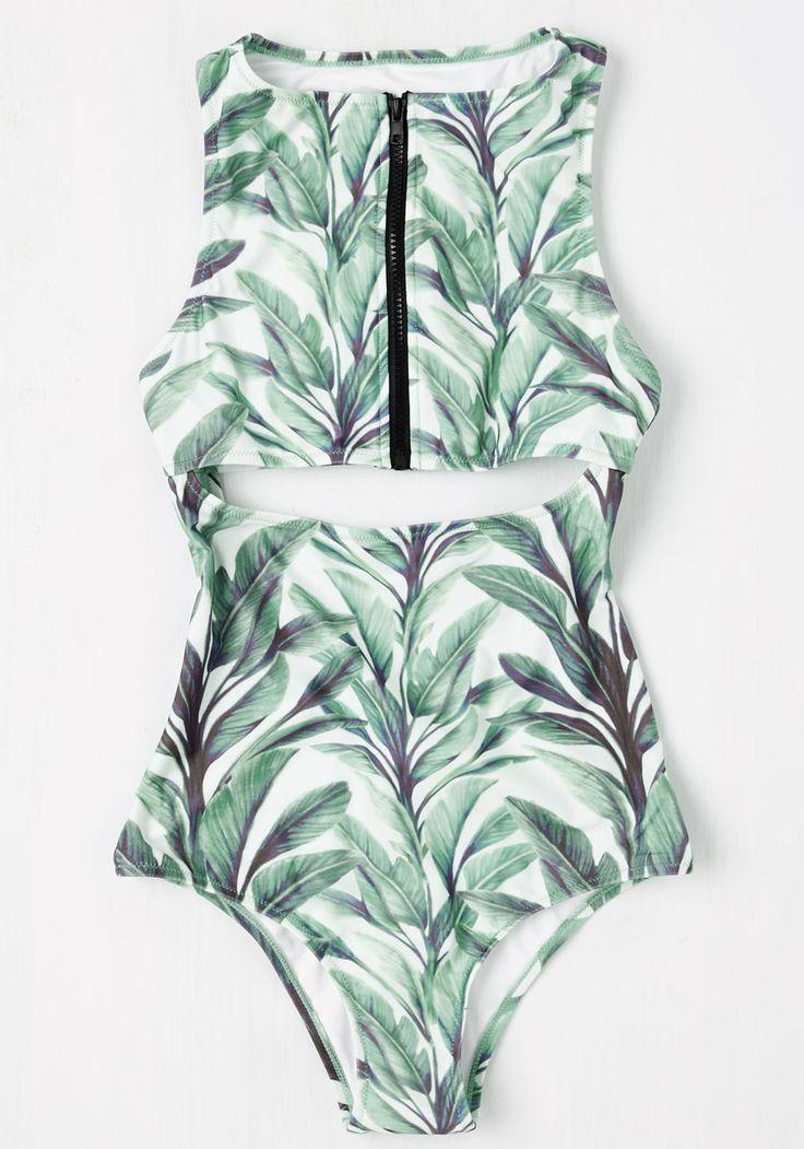 Fern Up the Heat One-Piece Swimsuit | Mod Retro Vintage Bathing Suits | ModCloth.com