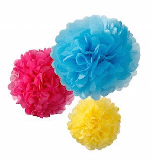 DECADENT DECS BRIGHT MIX TISSUE POM POMS