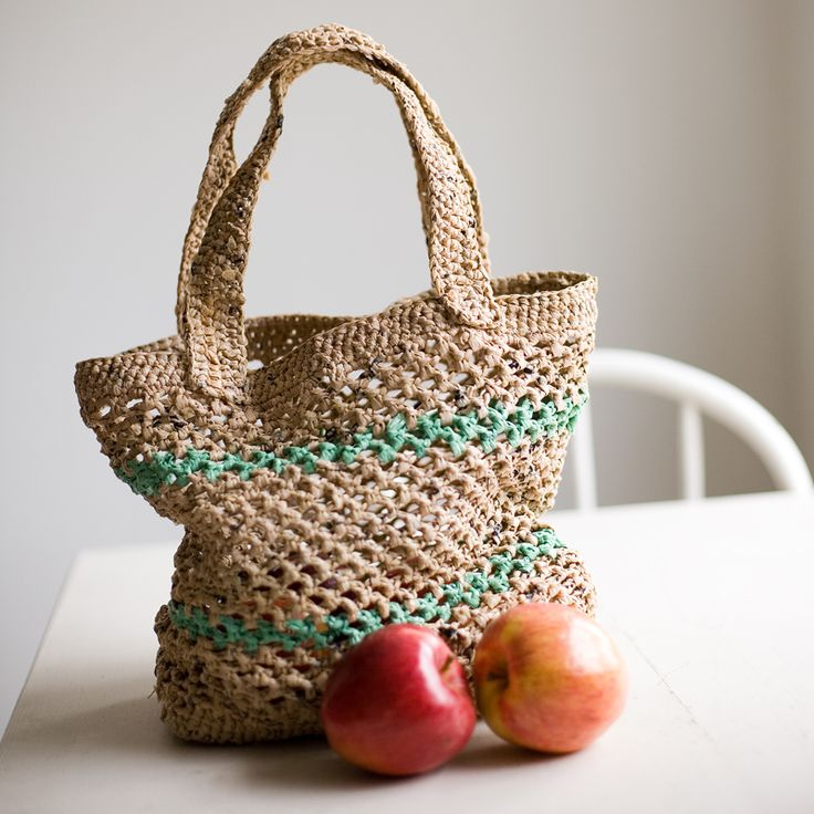 Crochet Pattern For Plastic Bag Tote : How to make plarn for crochet or knitting ~ plastic bag ...