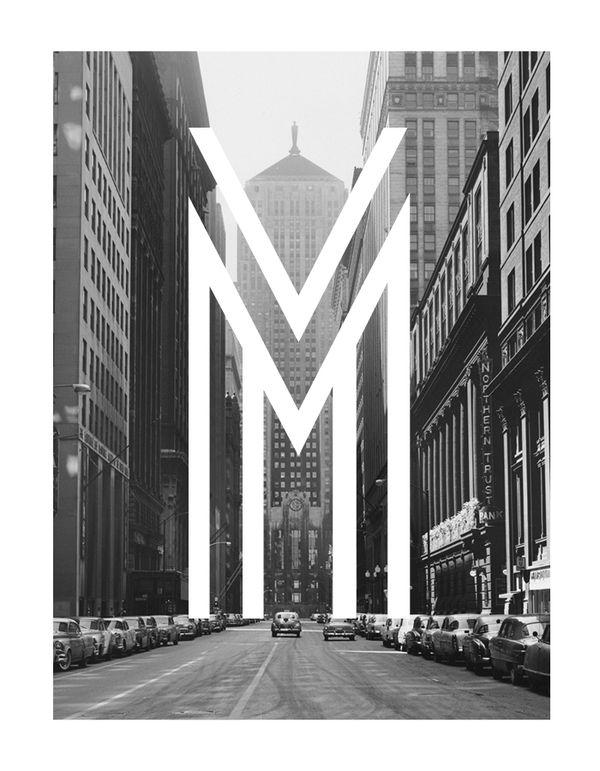 M // LaSalle Street in Chicago