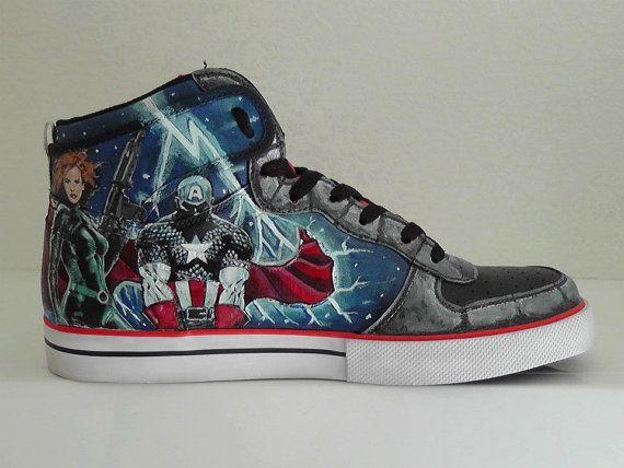 Nike Avengers Custom sneakers   trainers Hand painted  8e3e5da87
