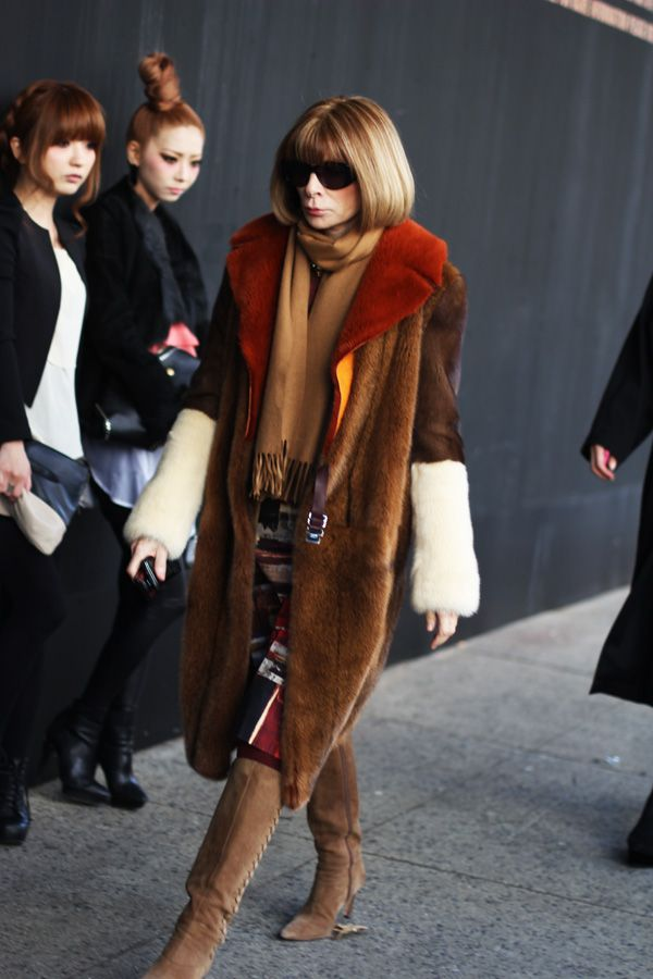 Anna Wintour....I want to be as fabulous as her in my 50's/ 60's