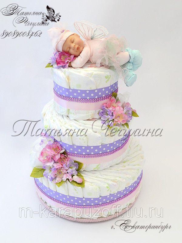 """Торт для новорожденной девочки """"Феечка-2"""", фото 1"""