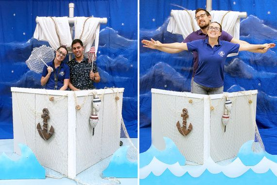 Boat Photo Booth in a Box with Nautical Props by DAPPSY on Etsy