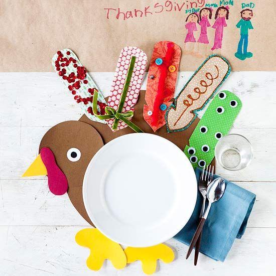Kids Thanksgiving Placemats Craft