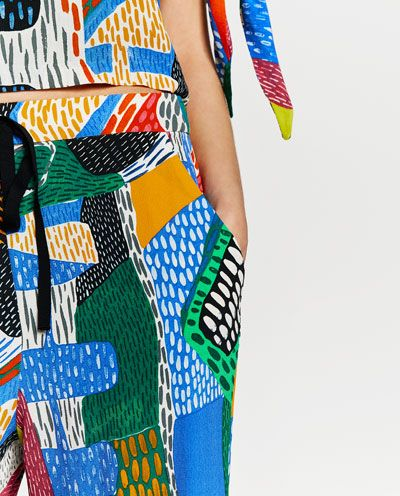 Image 6 of MULTICOLOURED PRINTED TROUSERS from Zara